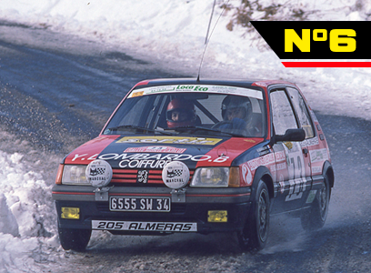 The Peugeot 205 GTI in competition