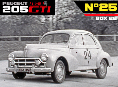 The Peugeot 203 in the race
